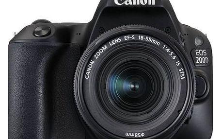 Digitální fotoaparát Canon EOS 200D + EF18-55 IS STM (2250C002) černý + Cashback 1400 Kč + Doprava zdarma