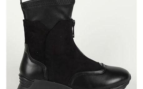 Boty Primadonna Calzatura Sneakers Eco-Pelle Nero Černá