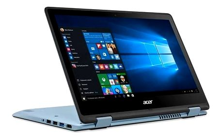 Notebook Acer Spin 1 (SP113-31-P7J5) (NX.GM5EC.001) černý/modrý + Doprava zdarma