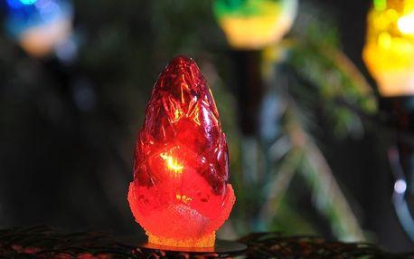 Světelný řetěz Šiška barevná, 12 žárovek