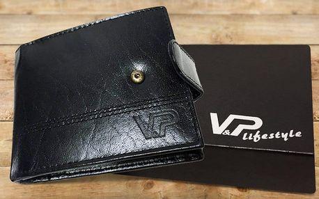 Elegantní pánská kožená peněženka v dárkové kazetě