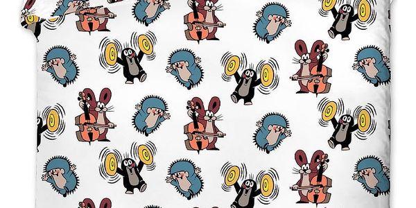 Jerry Fabrics Dětské bavlněné povlečení Krteček kids, 90 x 130 cm, 40 x 60 cm