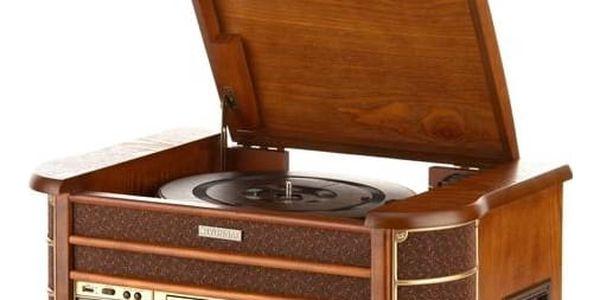 Gramofon Hyundai Retro RTCC 513 RIP dřevo + Doprava zdarma