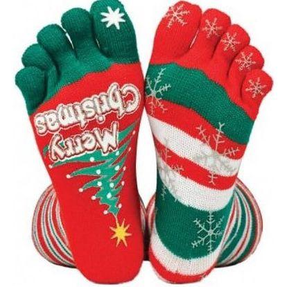 Vánoční prstové ponožky Christmas
