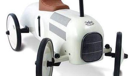 VILAC Kovové odrážedlo - Historické závodní auto - bílé