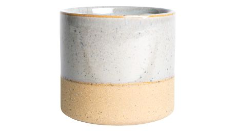 IB LAURSEN Obal na květináč Grey Spirit, šedá barva, hnědá barva, keramika