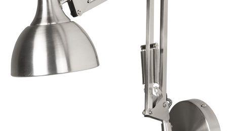 IB LAURSEN Nástěnná lampa Architect Silver, stříbrná barva, kov (slevový kód JEZISEK24 na -24 %)
