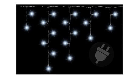 Závěs světelný 5 m - 144 LED - studená bílá - 18000101
