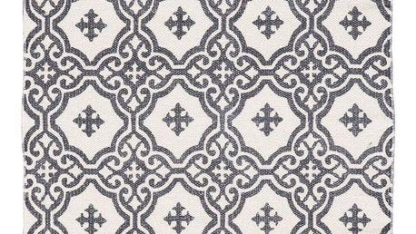 IB LAURSEN Kobereček Grey pattern 55x85, šedá barva, textil