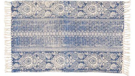 IB LAURSEN Bavlněný kobereček Dusty Blue 55x85cm, modrá barva, textil