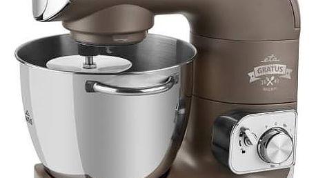 Kuchyňský robot ETA Gratus 0028 90030 titanium Zmrzlinovač ke kuch. robotům ETA 0028 Gratus, ETA 0128 Gustus, ETA 0023 Gratussino, ETA 0030 Meno, ETA 0033 Mezo a mlýnkům na maso typu ETA 2075 (ETA 0028 98030) (zdarma) + Navíc sleva 10 % + Doprava zdarma