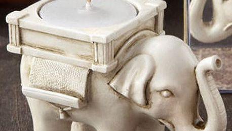 Stojan na svíčku Slon pro štěstí
