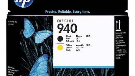 Inkoustová náplň HP No. 940 - originální (C4900A) černá/žlutá