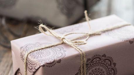 IB LAURSEN Balicí papír Malva Burgundy - 10m (úzký), růžová barva, fialová barva, papír