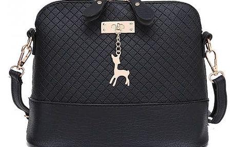 Crossbody kabelka s jelenem ve zlaté barvě - černá - dodání do 2 dnů
