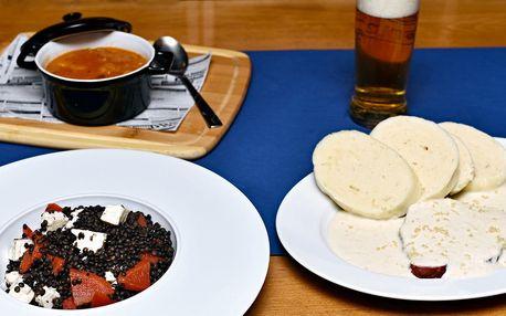Novoroční 4chodový oběd na Vltavě pod Vyšehradem