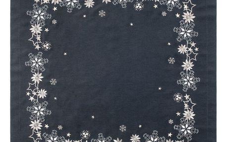 Sander Ubrus Christmas flake antracitová 85 x 85 cm