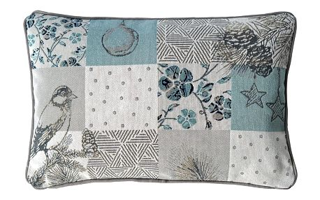 Sander Dekorační polštářek Winter patch tyrkysová 32 x 48 cm