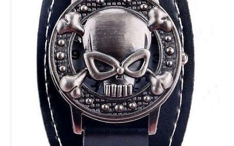 Odklápěcí hodinky s lebkou