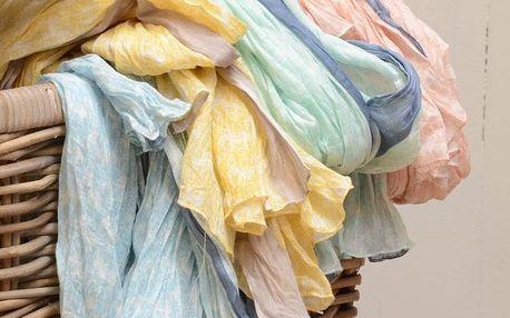 IB LAURSEN Šátek Elephants Tyrkysově modrý, růžová barva, modrá barva, žlutá barva, textil