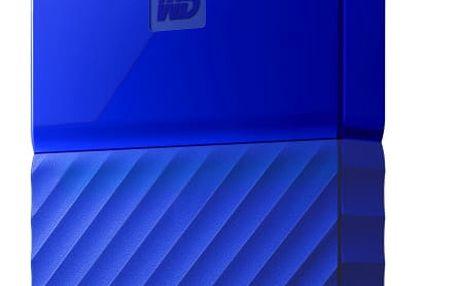 """Externí pevný disk 2,5"""" Western Digital 1TB (WDBYNN0010BBL-WESN) modrý Power Bank GoGEN 2000mAh černá/červená v hodnotě 139 Kč"""