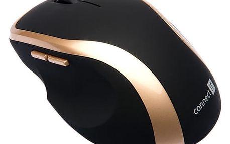 Myš Connect IT WM2200 (CI-260) černá/zlatá / laserová / 5 tlačítek / 1000dpi