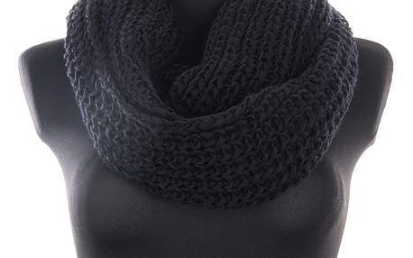 Zimní dámská pletená šála - tunel velká