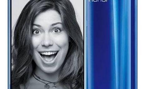 Mobilní telefon Honor 9 Dual SIM 64 GB (51091TBG) modrý Fitness náramek Honor Band 3 - černý (zdarma) + Doprava zdarma