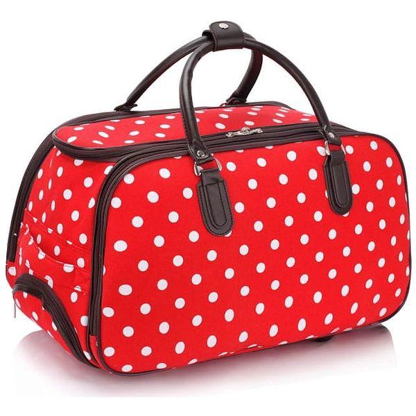 Dámská cestovní taška Esmme 308D červená2