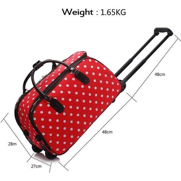Dámská cestovní taška Esmme 308D červená3