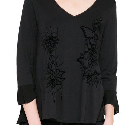 Desigual černé dámské tričko Masi