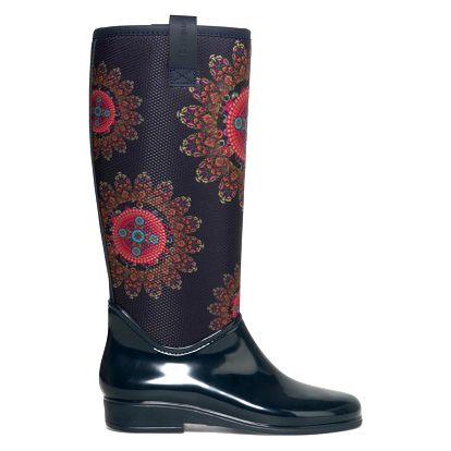 Desigual tmavě modré holínky Rainy Boot Essentials Ni