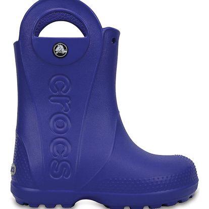 Crocs modré dětské holínky Handle It Rain Boot Kids Cerulean Blue