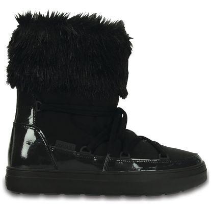 Crocs černé sněhule Lodgepoint Lace Boot Black