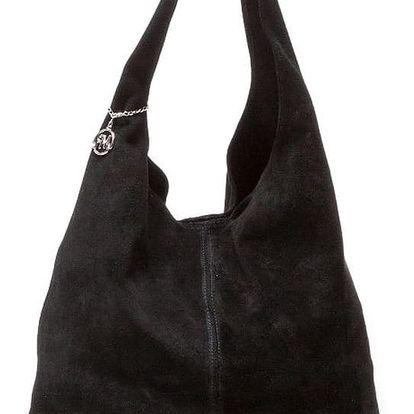 Černá kožená kabelka Isabella Rhea 885 - doprava zdarma!