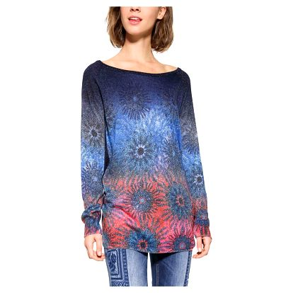 Desigual modrý svetr Basic Carlin