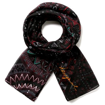 Desigual černý šátek Rectangle Noa
