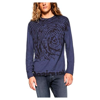 Desigual modré pánské triko Truyne
