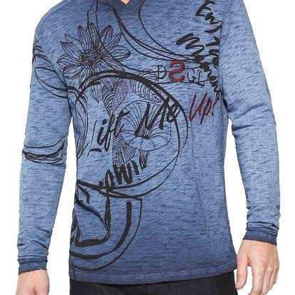 Desigual modré pánské tričko Dlivin