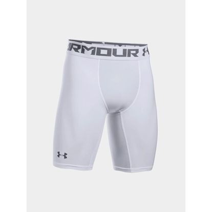 Kompresní šortky Under Armour HG 2.0 Long Short Bílá