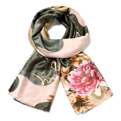 Desigual barevný šátek Rec.Militar Flores