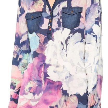 Desigual barevná dámská košile Floral