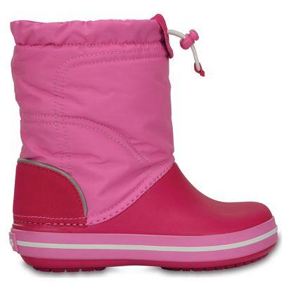 Dívčí boty Crocs Crocband Lodge Point Boot Kids Candy, růžové