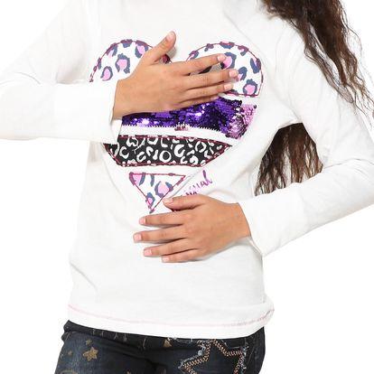 Desigual bílé dívčí tričko Texas