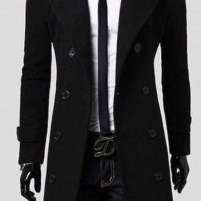 Pánský dlouhý kabát Libero černý AKCE