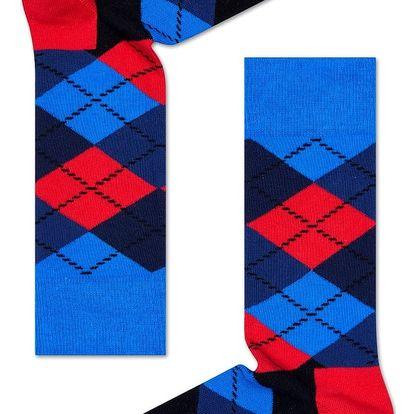 Happy Socks kárované pánské ponožky Argyle