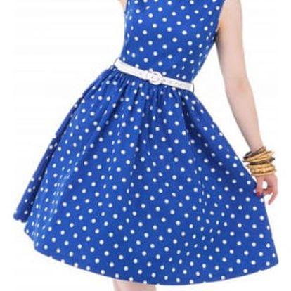 Puntíkaté šaty v retro stylu - 4 barvy