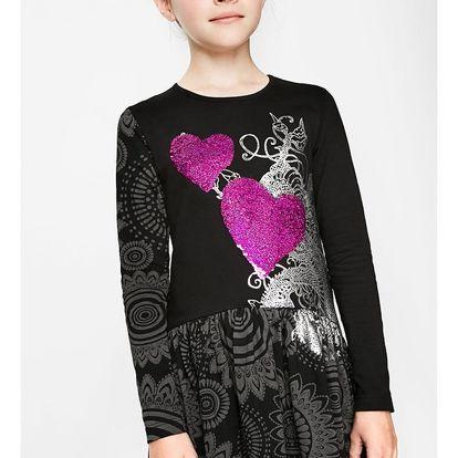 Desigual černé dívčí šaty Jacksonville