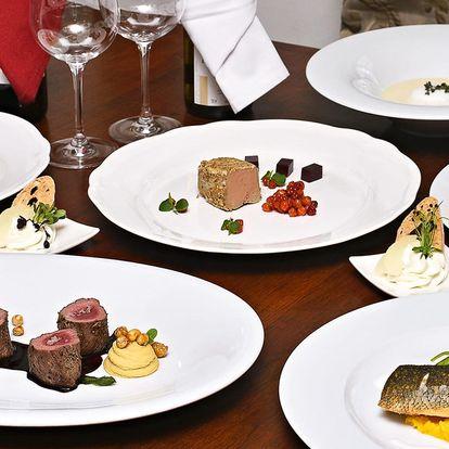 6chodové degustační menu s rybou či daňčím pro 2
