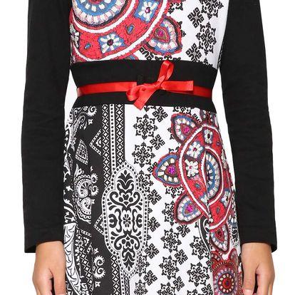 Desigual černé dívčí šaty Gaberones